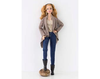 Denim jeans for Barbie and Poppy Parker