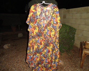 Vintage size 16 dress 40 inch bust 48 inch length