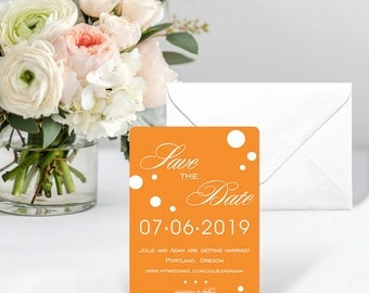 Burst - Card - Save the Date - Includes Back Side Printing + Envelope