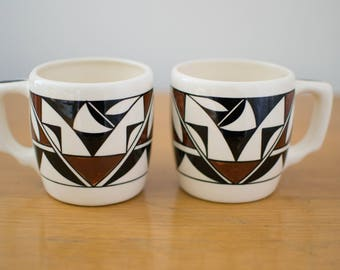 Hand Painted South Western Mugs