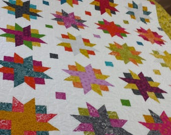 Ribbon Star  Twin Sized Quilt