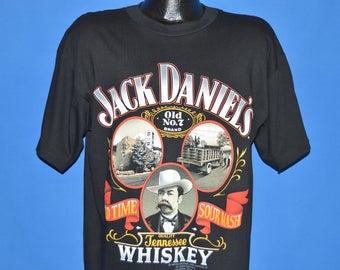 90s Jack Daniels Whiskey Old Time Sour Mash t-shirt Large
