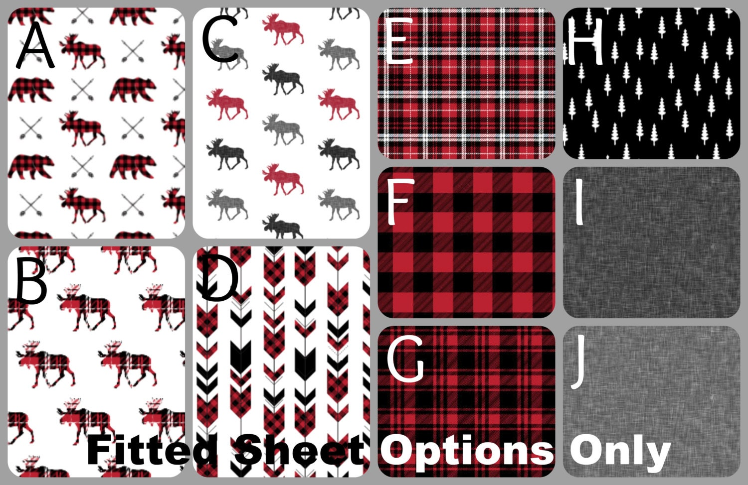 Lumberjack Baby Quilt Amp Fitted Sheet Baby Crib Set By Namijane