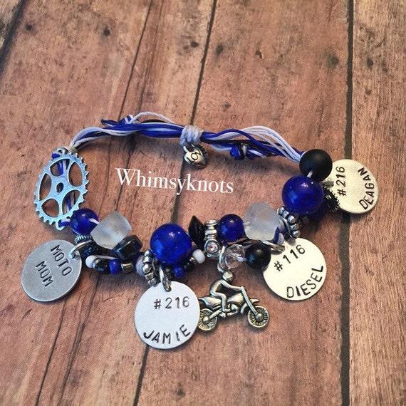 MX Mom-Dirt-bike charm bracelet-- mx gear /mx gift/ mx girlfriend gift