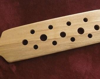 Rustic wood spanking paddle, OTK paddle, butt warmer, wood paddle. wood spanking paddle, OLD OAK