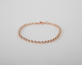 Anklet Rosegolden Chain Rose Gold Plated Ball Chain Ballchain