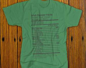 Boy's Nutrition Label Irish Dance T-Shirt