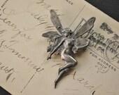 Vintage Art Nouveau Style Fairy Pin