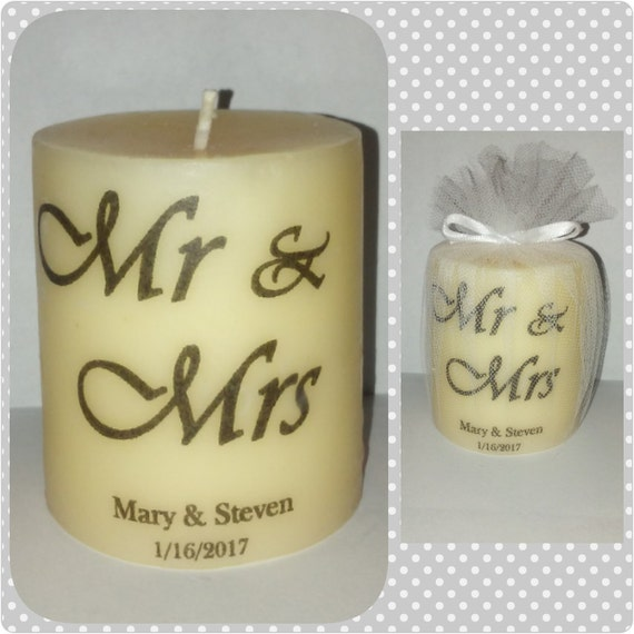 Wedding Gifts Mr And Mrs: Mr And Mrs Wedding Gift Wedding Candle Favors Personalized