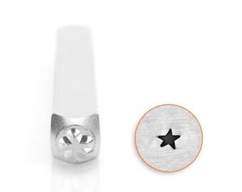 3 mm angled solid star design stamp , metal design punch , impressart stamp