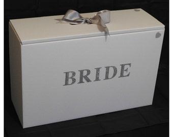 Wedding Dress Travel Box,Diamante Bride,Acid Free,Ph neutral,