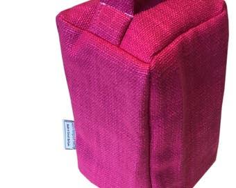 Fabric Doorstop made in Designers Guild PANARO - FUCHSIA