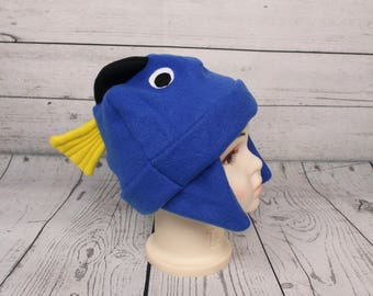 Adult Blue Tang Tropical Fish Fleece Hat