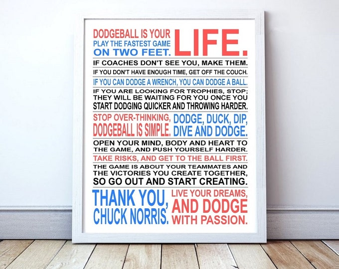 Dodgeball Is Your Life - Custom Manifesto Poster Print