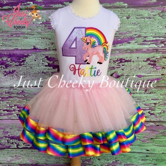 Unicorn Birthday Outfit - Unicorn Birthday Shirt - Rainbow Birthday Outift - Girls Birthday Shirt -Unicorn Tutu -Rainbow Shirt -1st Birthday