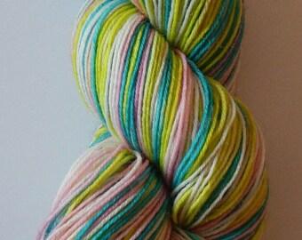 Sugar Candy Crystals Self Striping yarn on Pilgrim base