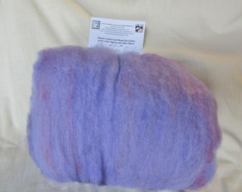 2.5 Oz. Hand Crafted Carded Batt of Alpaca and 60/20/20 Blend of Merino Yak and Silk