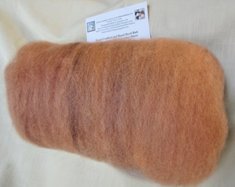 2.2 Oz. Hand Crafted Carded Batt of Alpaca and BFL Wool