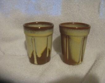 2 FRANKOMA WAGON WHEEL Desert Gold 4 oz Tumblers
