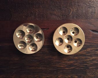 Mid Century Modern Tiny Taper Dansk Designs Candle Holder, Set of Two. Made in Denmark.