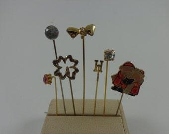 Set of 7 Vintage Stickpins