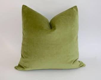 ON SALE NOW Apple Green Velveteen Pillow 24 x 24