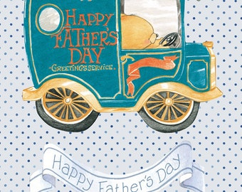 """Father's Day Gift Tags Extra Large 10.5"""" x 7.75"""" 1st Fathers Day, Best Dad, Happy Father's Day featuring Forever Friends and Boofle Bear"""
