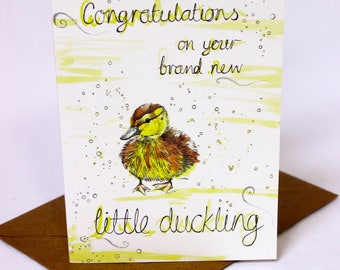 Little Duckling New Baby Card
