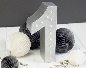 Light up number, marquee light, alphabet light, wedding sign, nursery night light, light up letter
