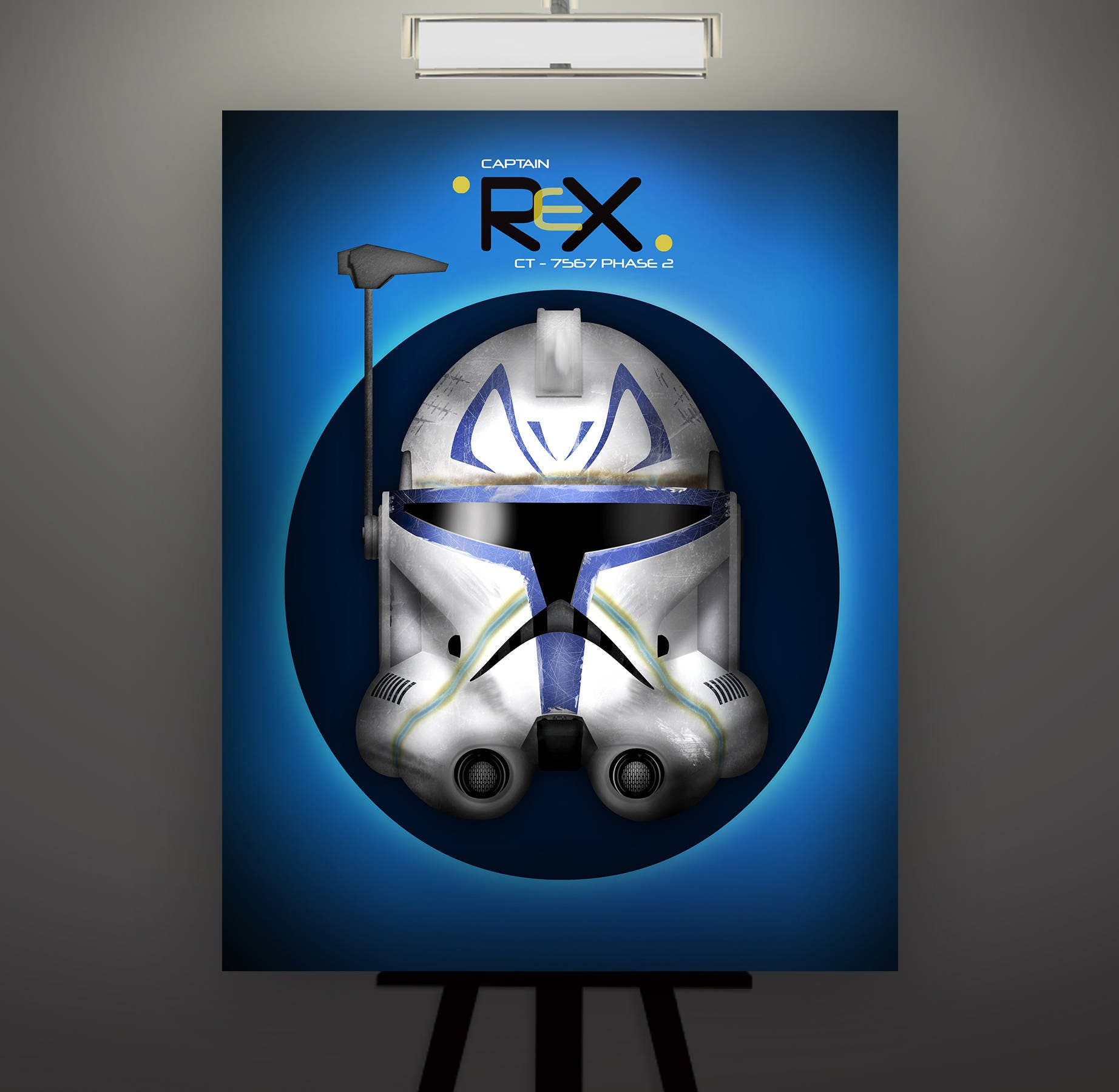 star wars inspired captain rex phase 2 clone trooper helmet