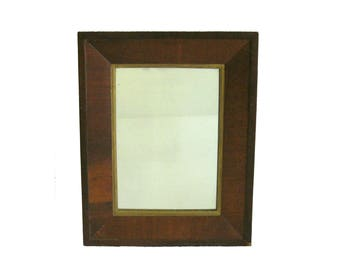 "Framed Antique Wall Mirror, 20 3/8"" x 16 3/8"""