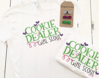 Cookie dealer Girl Scout cookie shirt