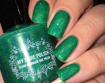 Holographic nail polish - envious of what - mini - green