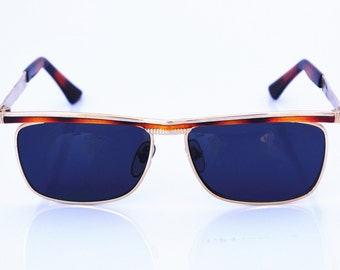Hi Tek Alexander square metal Steampunk  wayfarer 80's men sunglasses