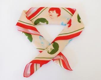 Hipster scarf, Heads illustrations, Neckpiece, Neckerchief foulard