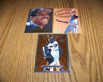 3 Vintage Barry Bonds (San Francisco Giants) Insert Cards
