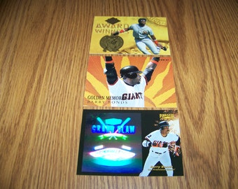 3 Vintage Barry Bonds (San Francisco Giants) Baseball Insert Cards