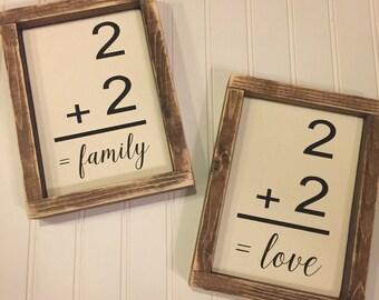 Vintage flash card sign, love sign, family sign