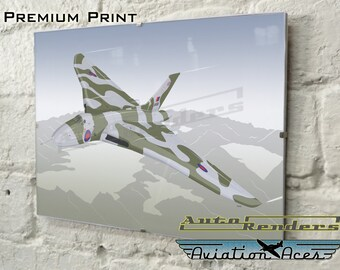 Avro Vulcan B2 XH558 Personalised Signed Print. 12x8(A4) to 45x30(A0) Custom Illustration The Spirit of Great Britain Aeroplane Warplane Jet