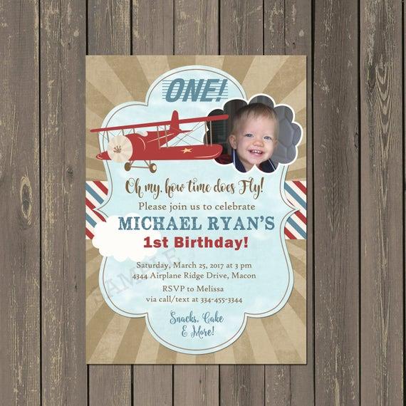 Airplane birthday invitation vintage airplane 1st birthday invite il570xn filmwisefo