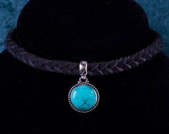 Sterling Silver Turquoise Choker: EARTH