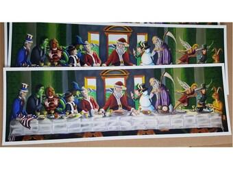 Holiday Last Supper artist print//10x30// artist prints