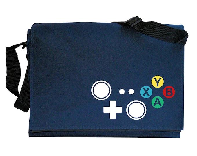 Xbox Joypad Controller Buttons Navy Blue Messenger Shoulder Bag