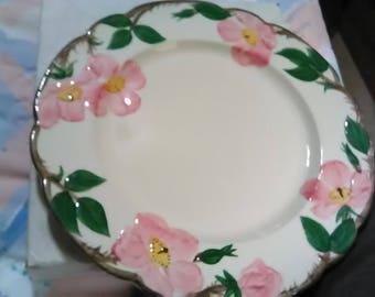 """Franciscan Earthenware Desert Rose Dinner plate. 10 3/4"""" across. Looks never used."""