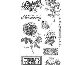 Graphic 45 TIME TO FLOURISH 2 Cling Stamps IC0324S 1.cc72