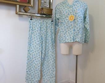 Vintage 1960s flannel Pajamas NOS by Carol Brent