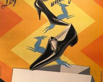 Original Vintage Poster GAZELLE SHOES by ROBYS 1930s