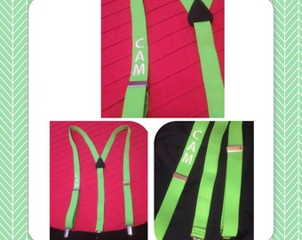Custom Suspenders Clip-Button End Premium- Personalized Suspenders - Any Occassion - Groom/Groomsmen Suspenders - Wedding Party Suspenders