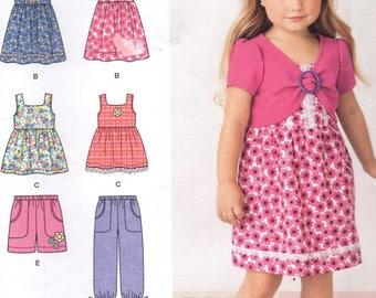 Uncut 2268 Simplicity Sewing Pattern Girls Top Dress Pants Shorts Size 3 4 5 6 7 8 Factory Folded