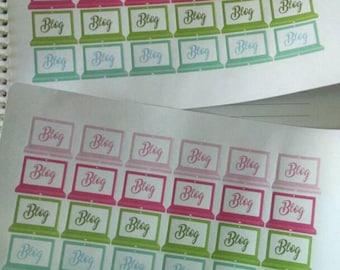 Planner Stickers/ECLP Stickers/Blog Stickers/Stickers that say BLOG/Planner Stickers for Bloggers